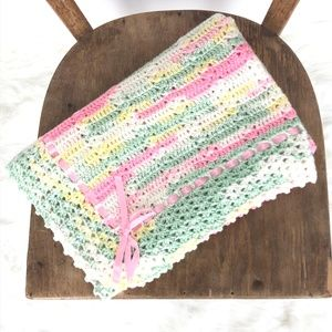 Other - Vintage Handmade Crochet Baby Receiving Blanket